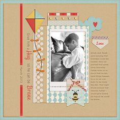 I made this page from the ADORABLE Sunday Afternoon kit by HGD by Laurie Ann.