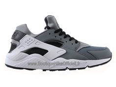 finest selection ae407 d11ef Boutique Nike Officiel Nike Air Huarache Chaussures Pour Homme Gris Blanc  654275-001
