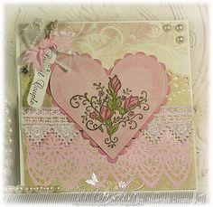 Click to Zoom: Pink Bella Rosebuds & Shabby Lace