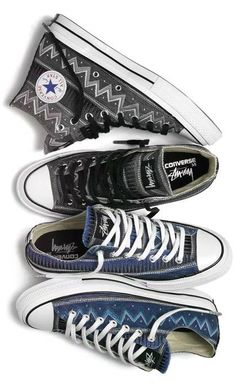 """Stussy x Converse Chuck Taylor All Star '70 """"Stussy 35"""" Collection  Rich heritage graphics pay homage to the iconic streetwear imprint."""