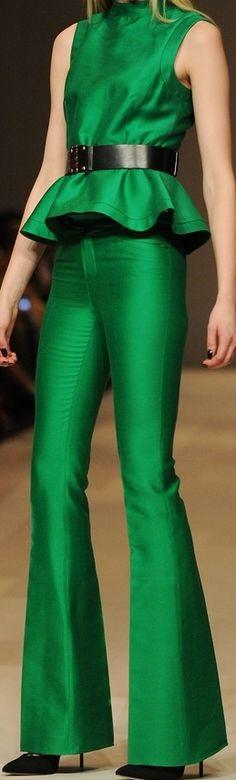 Emerald Peplum ❤