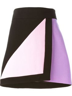 FAUSTO PUGLISI geometric panel wrap-style skirt £402.72