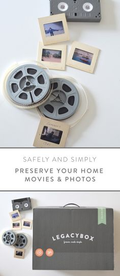 The easiest, most beautiful way to digitally preserve your aging vhs tapes, film, and photos. Home Movies, Vhs Tapes, Photo Projects, Diy Projects, Organization Hacks, Genealogy Organization, Graphic, Vhs To Dvd, Keepsakes