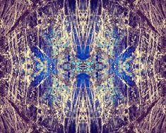 Labradorite Mineral Photograph 8x10 psychedelic kaleidoscope trippy pattern blue purple vibrant colorful wall art decor cream