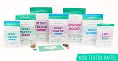Enter For a Chance To Win This amazing Teatox Package. No purchase necessary.      Flush away unwanted pounds.     Boost your metabolism.     Reduce puffiness and bloating.   Increase energy levels for free.