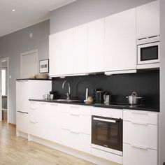 Modern White And Black Kitchen modern kitchen design ideas and small kitchen color trends 2013