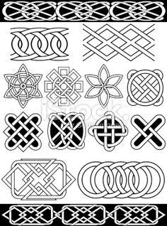 Set - vector celtic patterns Royalty Free Stock Vector Art Illustration