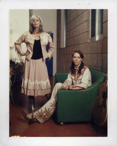 jeffriedelpolaroids:  Emmylou Harris and Gillian Welch - Santa Barbara, CA  This can't be more than 15 years old, but they both look crazy younger.