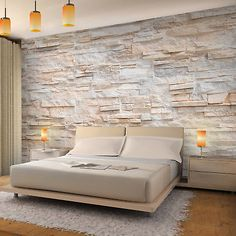 Non-woven photo wallpaper & # stone wall & # – RUNA wallpaper! Provence mural wall wallpaper Source by Photo Wallpaper, Wall Wallpaper, Stone Wallpaper, Wallpaper Ideas, Stone Exterior Houses, Loft Wall, Bedroom Closet Design, Interior House Colors, Home Living Room