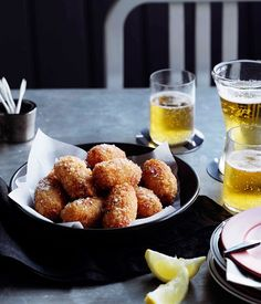 Sweet Paprika Snapper, Red Pepper and Golden Shallot Croquettes