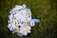 button bouquet- this is a really cute idea.
