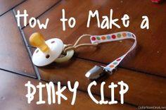 How to Make a Binky Clip
