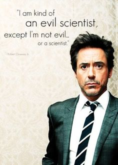 The wit and wisdom of RDJ.
