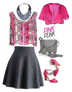Pink punk!! by rekharam on Polyvore featuring polyvore fashion style Glamorous P.A.R.O.S.H. Chicwish Chelsea Crew See by Chloé Fairchild Baldwin clothing