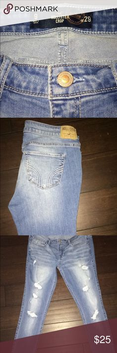 Hollister Low rise Crop Super Skinny Jeans Great condition, only worn twice. They are Hollister so they will last you a long time. Super Skinny Jeans, Username, Hollister, Shop My, Ankle, Best Deals, Womens Fashion, Pants, Closet