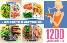 A successful meal plan for losing weight incorporates good diet and exercising. So, here is a 1200 calorie meal plan, for 7 days.