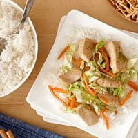 A classic chicken dish, this chicken chow mein with fresh napa cabbage makes a healthy, quick family meal.
