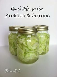 Quick Refrigerator Pickles and Onions - Refrigerator - Trending Refrigerator for sales. - Quick and easy refrigerator pickles & onions. This old fashioned recipe uses cucumbers onions sugar and vinegar. Cucumber Recipes, Veggie Recipes, Cucumber Bites, Dill Recipes, Lunch Recipes, Summer Recipes, Dinner Recipes, Quick Refrigerator Pickles, Fingers Food