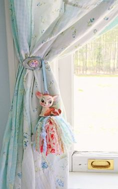 DIY Vintage Spoon Curtain Tie Backs | Bohemian Nursery Decor