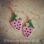 Free Brick Stitch Seed Bead Patterns - http://www.guidetobeadwork.com/wp/2013/10/free-brick-stitch-seed-bead-patterns-8/