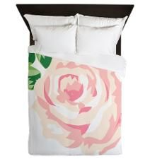 Single Vintage Rose Queen Size Duvet #bedding #homedecor #interiordesign #vintage #shabbychic