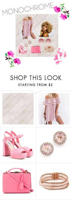 """All Pink"" by jenniferperez3012 ❤ liked on Polyvore featuring Prada, Dana Rebecca Designs, Mark Cross, Betsey Johnson, Linda Farrow and L'Agence"