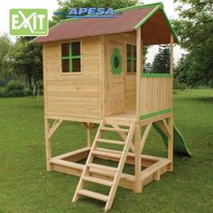 Exit Spielhaus Loft 500 Stelzenhaus von APESA Garden Playhouse, Playhouse Plans, Jungle Gym, Woodworking For Kids, Rado, She Sheds, Treehouse, Pallet Projects, Picnic Table