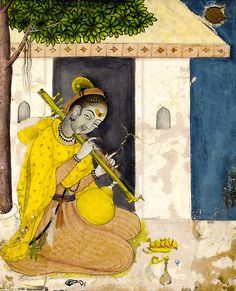 two fine fragmentary miniatur Southeast Asian Arts, Mughal Paintings, India Painting, India Art, Indian Artist, Krishna Art, Portrait Art, Aesthetic Art, Art World