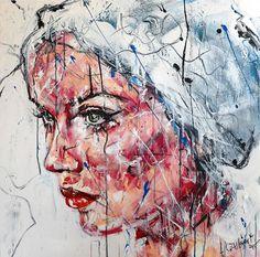 Lucile Callegari / T244 / Acrylique et fusain sur toile / 80x80cm, 2015.