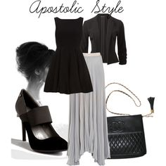 Grey Scale Apostolic Style by emmyholloway on Polyvore featuring Alice & You, Alice + Olivia, Calvin Klein, Chanel and Ray-Ban