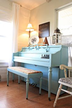 Living Room Color Reveal! - The Pennington Point | The Pennington Point ... painted piano