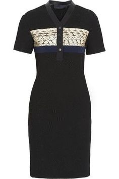 Elaphe-paneled honeycomb-mesh dress #dress #women #covetme #proenzaschouler