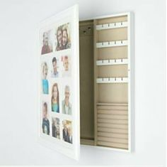 "Amazon.com - Wood Collage Photo Frame Jewelry Wall Cabinet -22.12""h X ..."