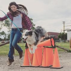 Alisha Newton (Georgie) and her dog Zoey on set. #Season9