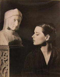 The poet and the actress: Dante Alighieri and Louise Brooks share a moment…
