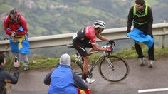 An entirely awesome performance by Alberto Contador on the penultimate stage of the 2017 Vuelta, on the climb to Angliru summit.(EFE)