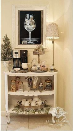 DIY Coffee Bar Ideas for Your Home (Stunning Pictures) - ⚜️Coffee bar - . - Ay See Celik - DIY Coffee Bar Ideas for Your Home (Stunning Pictures) - ⚜️Coffee bar - . DIY Coffee Bar Ideas for Your Home (Stunning Pictures) - ⚜️Coffee bar - - Decor, Bar Furniture, French Country Decorating, Coffee Bar Home, Country Decor, Home Decor, Bar, Cocoa Bar, Home Coffee Stations