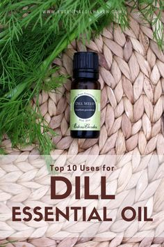 Start using dill essential oil in your home aromatherapy practice and enhance your life and well-being. A list of the top 10 Uses and Benefits of Dill essential oil. Essential Oils For Sleep, Organic Essential Oils, Essential Oil Uses, Herbs For Health, Plant Therapy, Sleep Remedies, Essential Oil Diffuser Blends, How To Treat Acne, Alternative Medicine