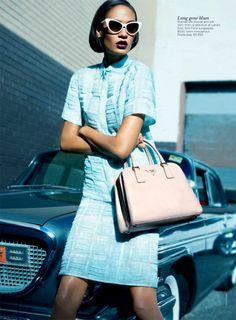 Rochas blouse.  Joan Smalls for Vogue Australia, April '12