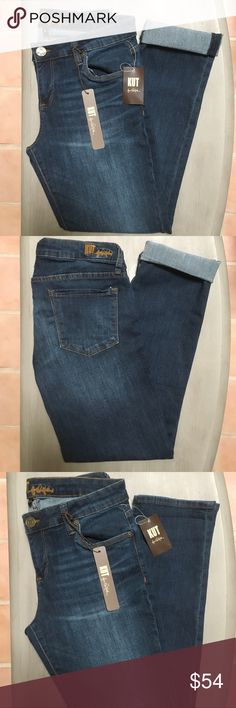 """KUT From The Kloth Jeans NWT KUT From The Kloth Jeans. Medium wash. Boyfriend style. Very comfortable and well made brand. Wear long or cuffed for casual style. 30"""" inseam. One of my own favorite brands and cut. Kut from the Kloth Jeans"""