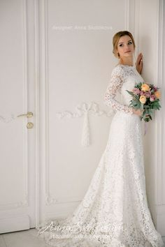 Long sleeves wedding dress Wedding gown Lace wedding dress