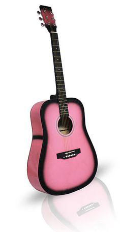 Fabulous Pink Acoutic Guitars Including Cutaway, Bulk, Electric Guitars & More!   pinksuperstore.com