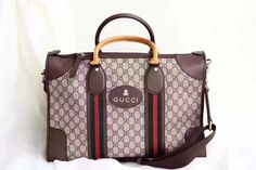 Gucci unisex woman man travel luggage tote bag