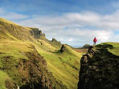 Scotland Peace - Rock of ages: The Trotternish Peninsula, on the Isle of Skye, is famous for its spectacular rock formations. Some have names like The Needle and The Prison (pictured here), but you need a bird's-eye view and a vivid imagination to spot them.