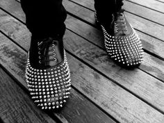 Christian Louboutin Studded Freddy Lace-Ups
