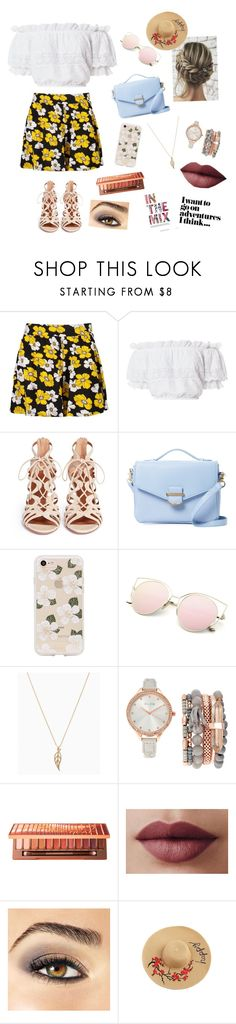 """""""Because I'm happy"""" by natsof7 ❤ liked on Polyvore featuring Boohoo, LoveShackFancy, Aquazzura, Cynthia Rowley, Sonix, Jessica Carlyle, Urban Decay and Avon"""