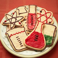 Science-y cookie cutters are so cool! Maybe for a mad scientist Halloween party?