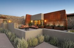 Beautiful courtyard pic of home I designed in Patagonia, AZ