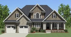 This 1.5 story  features 3954 sq feet. Call us at 866-214-2242 to talk to a House Plan Specialist about your future dream home!