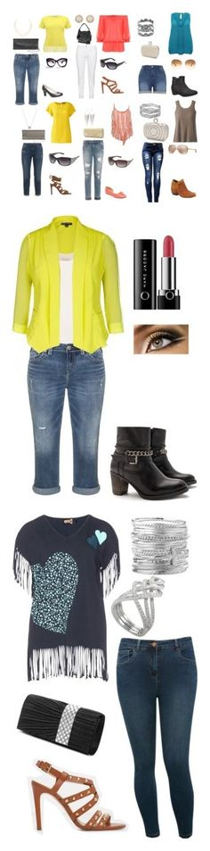 """""""Plus Size"""" by water-element ❤ liked on Polyvore featuring Melissa McCarthy Seven7, M&Co, WearAll, Steilmann, Joe's Jeans, Silver Jeans Co., Lands' End, TravelSmith, MANGO and Avenue"""